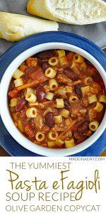 Pasta e Fagioli Italian Soup Recipe 1