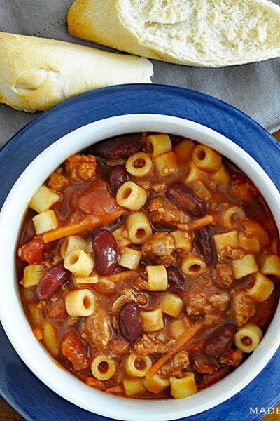 Pasta e Fagioli Italian Soup Recipe