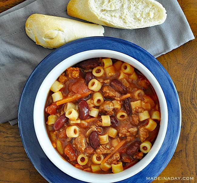 Pasta e Fagioli Italian #Soup Recipe, Olive garden #Copycat revised, Ditalini pasta, chili, itialian soup, comfort food, #comfortfood