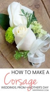 How to make a Corsage for Weddings Prom and more! 1