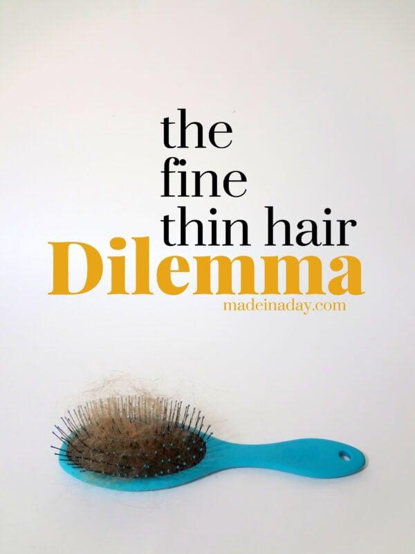 The Fine Hair Dilemma part one