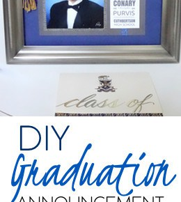 How to Make a Matted Graduation Keepsake Announcement 29