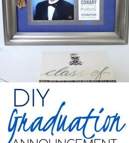 How to Make a Matted Graduation Keepsake Announcement 1