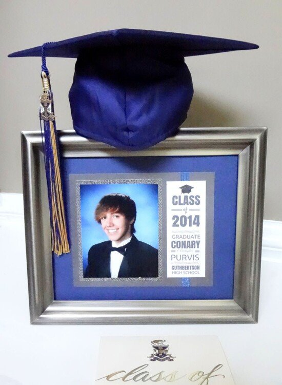 How to Make a Matted Graduation Keepsake Announcement 9