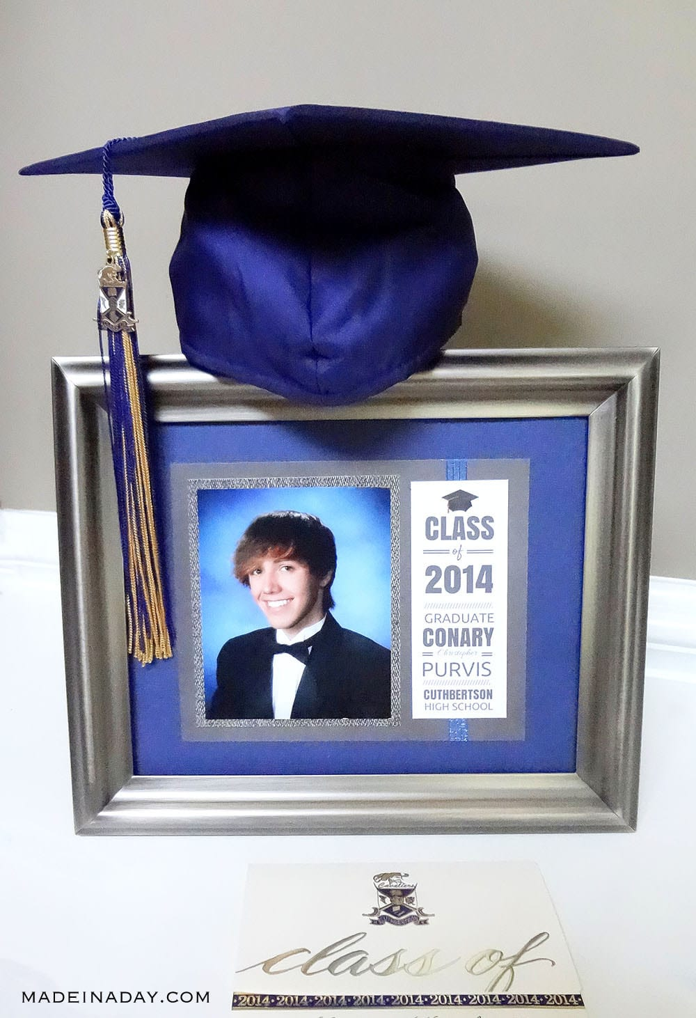 How to Make a Matted Graduation Keepsake Announcement, inexpensive graduation gift