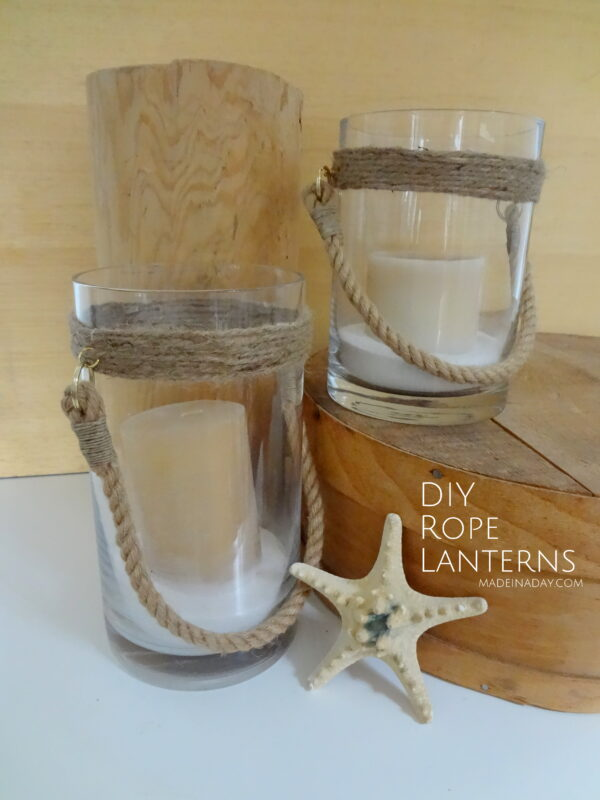 DIY Nautical Rope Lanterns