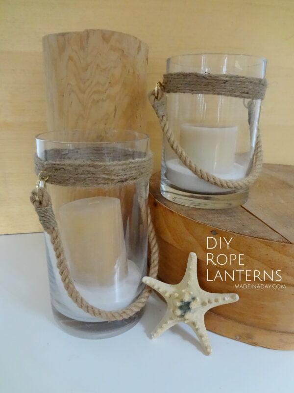 DIY Nautical Rope Lanterns