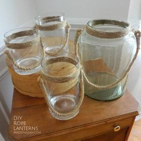 DIY Rope Vase Lanterns