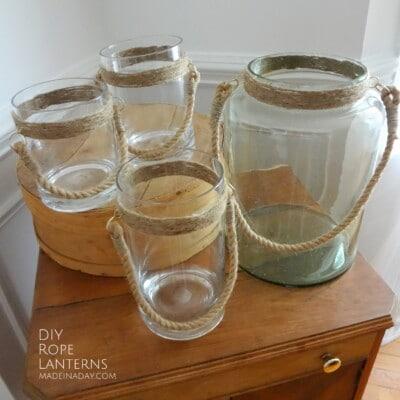 DIY Rope Lantern Vases