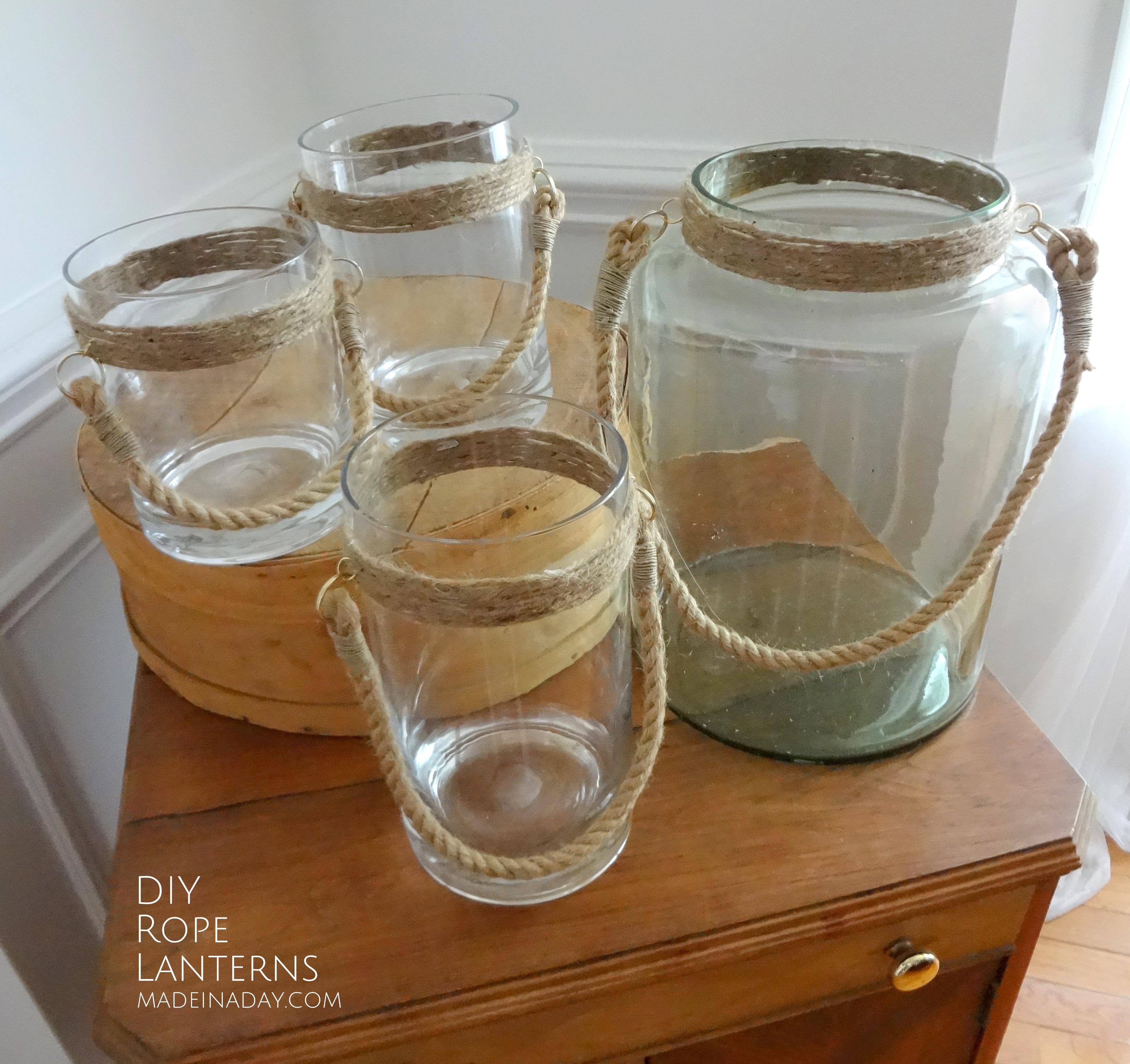 Do It Yourself Home Design: DIY Rope Lantern Vases