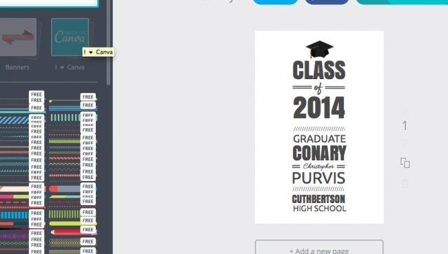 Canva tutorial grad announcement