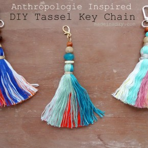 Anthro DIY Tassel Key Chain