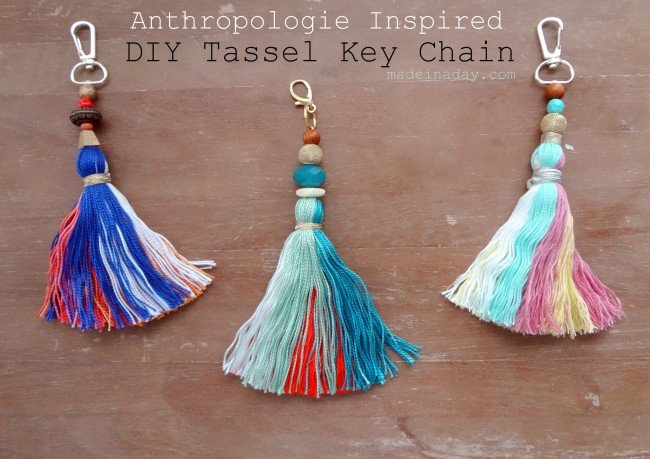 #AnthroHack DIY Tassel Key Chain