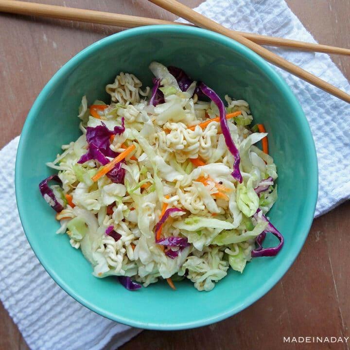 Crunchy Napa Cabbage Slaw