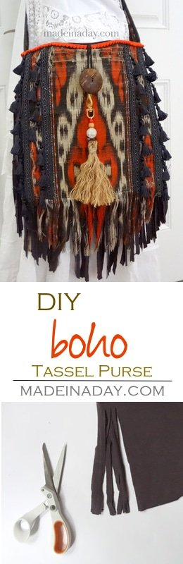 DIY Boho Tassel and Fringe Purse 2