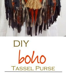 DIY Boho Tassel and Fringe Purse 1