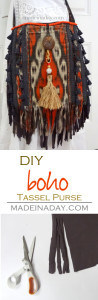 DIY Boho Tassel and Fringe Purse 1