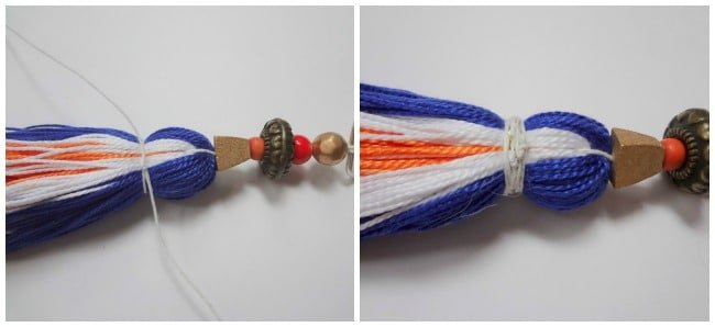 wrap cord to make tassel