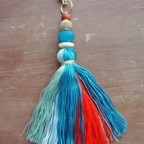 Tassel Keychain Anthropologie inspired