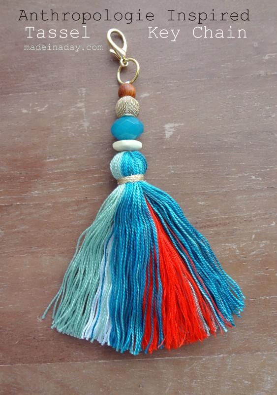 Tassel Keychain Fob Anthropologie Hack