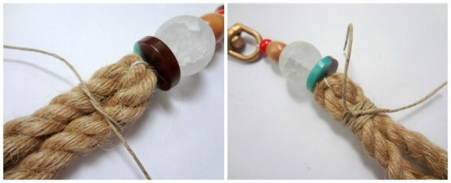 Tie jute for tassel keychain #anthrohack