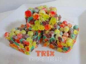 Trix Cereal Krispie Breakfast Treats