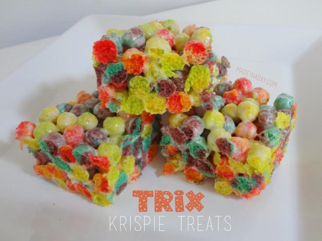 Trix Cereal Krispie Breakfast Treats
