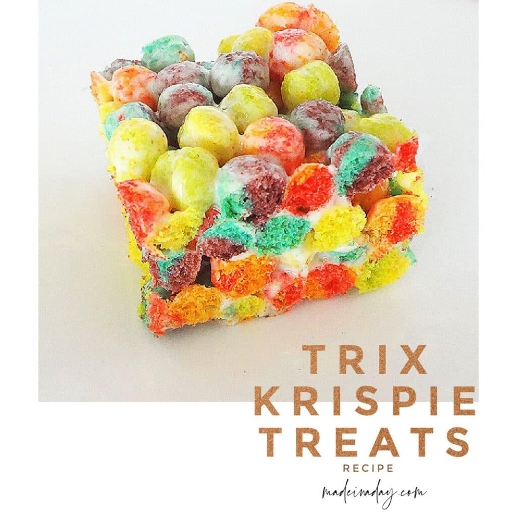 Fruity Trix Krispie Treats Bars Recipe