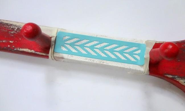 martha stewart Arrow stencil painted oar