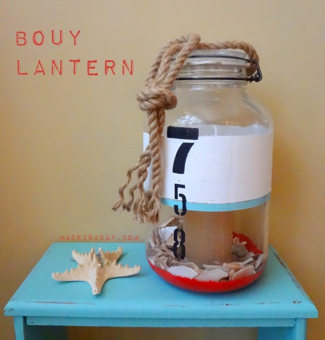 DIy Bouy Lantern painted glass tutorial