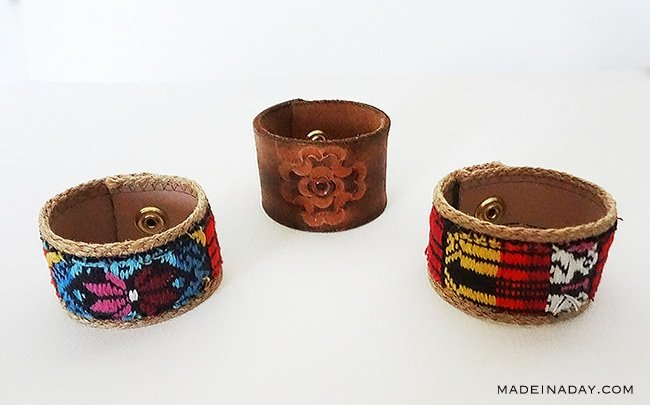 DIY Cuff Bracelets, one of kind bracelets! Leather cuff, belt cuff, leather belt cuff bracelets, #cuff #boho #bracelet