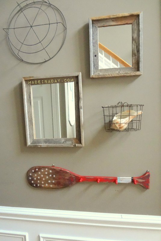 PB Inspired Distressed Painted Oar