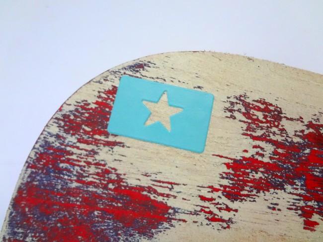 Martha Stewart Star Stencil DIY Painted Oar