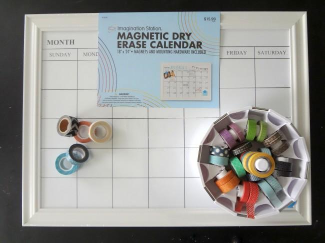 Easy Craft Washi Schedule