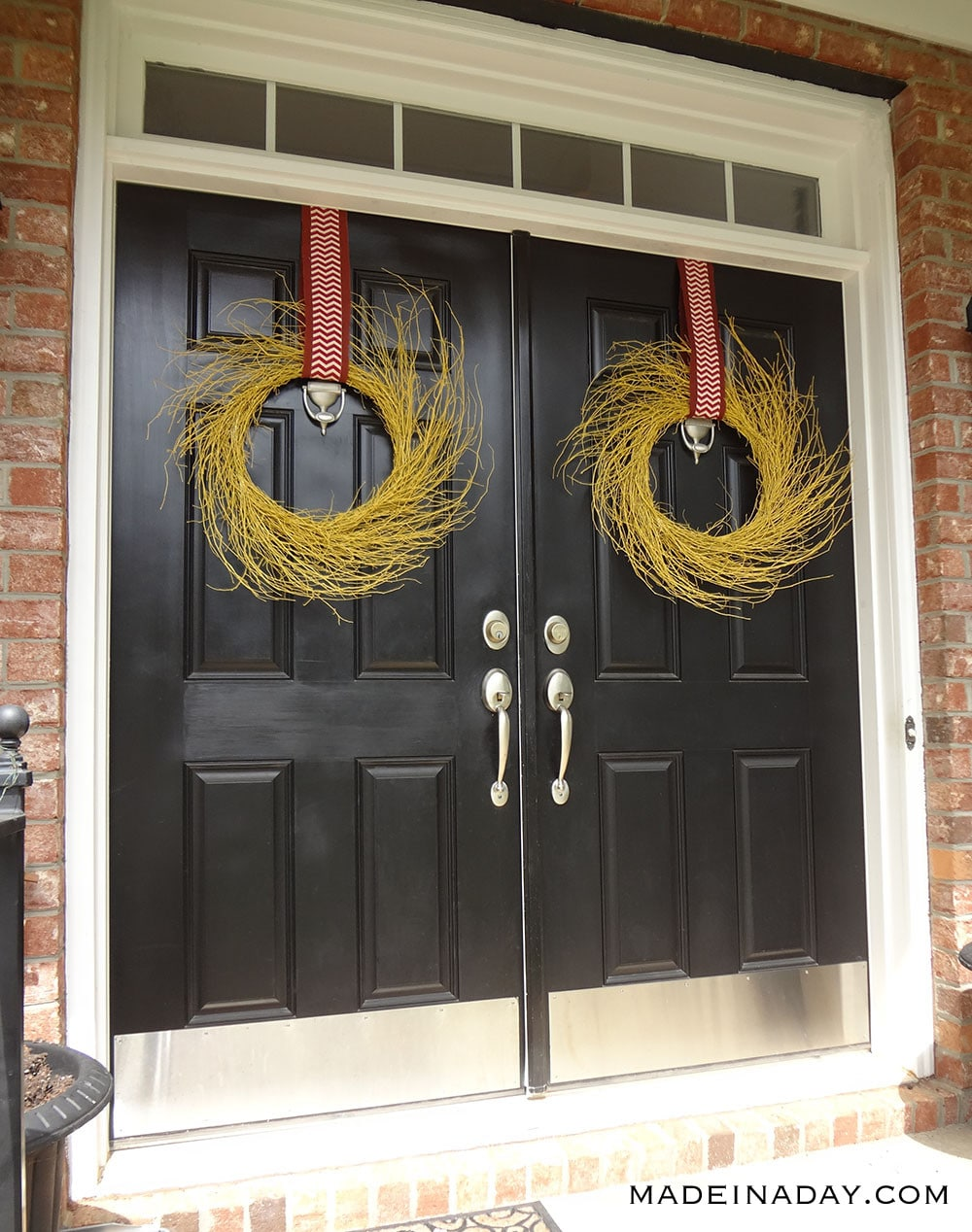 Yellow Wreaths for Fall, Fall Gold Wreath, Gold Wispy Wreath