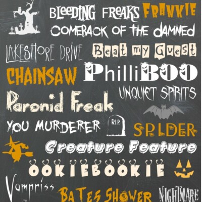 Free Halloween Fonts Dingbats