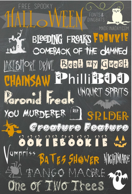 Free Halloween Fonts & Dingbats