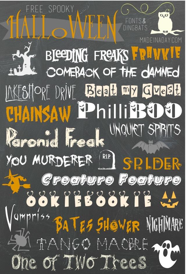 Free Halloween Fonts & Dingbats