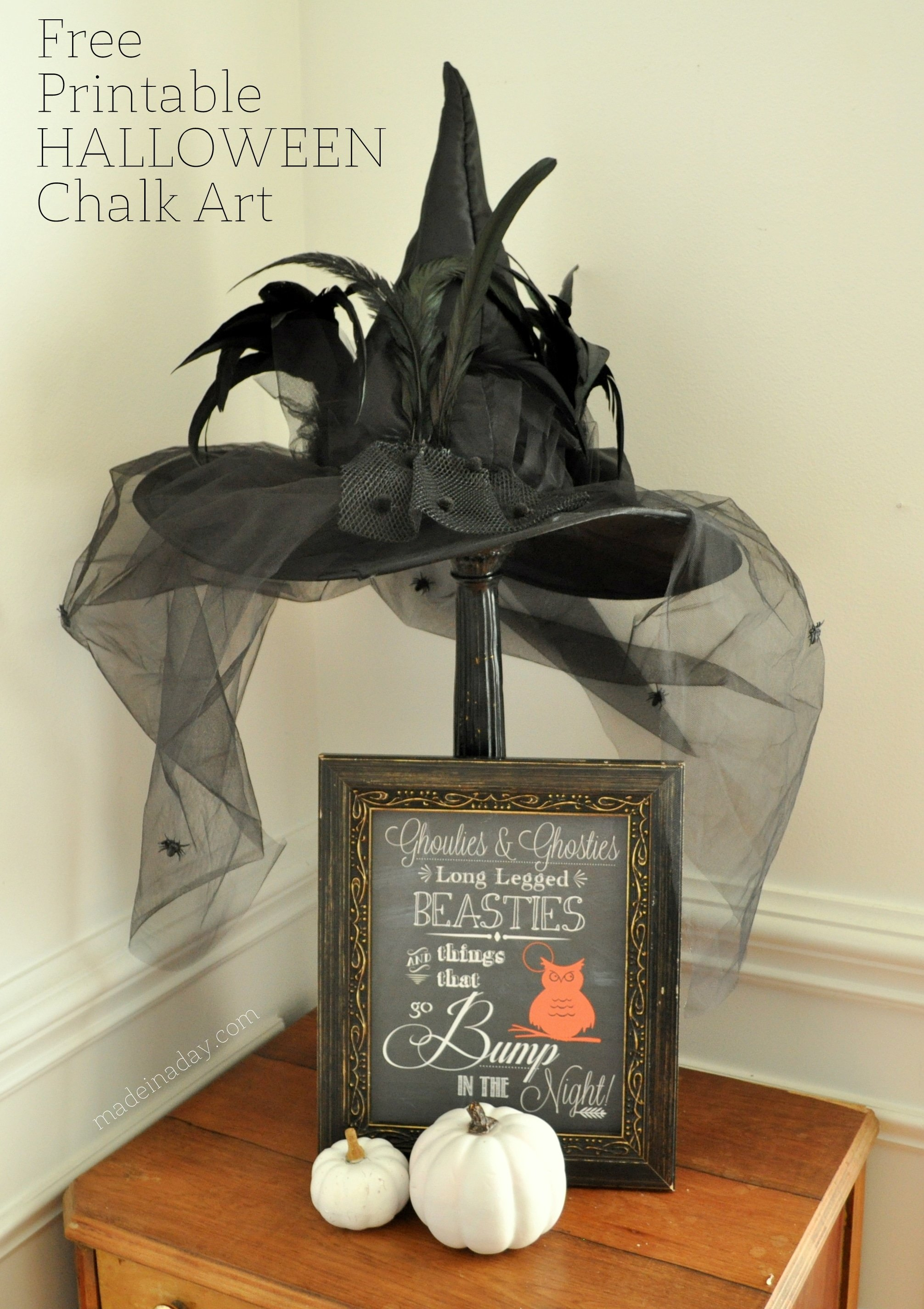 Free Printable Halloween Chalk Art