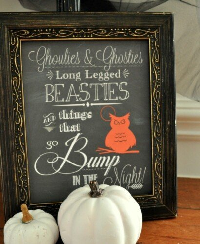Halloween Chalk Art Printable 38