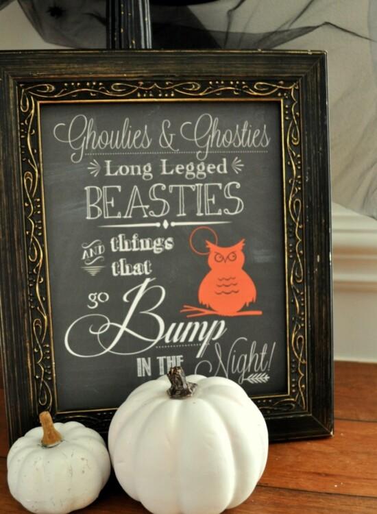 Halloween Chalk Art Printable 37