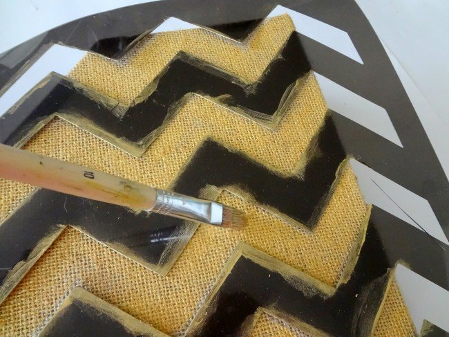 Gold Chevron Stencil