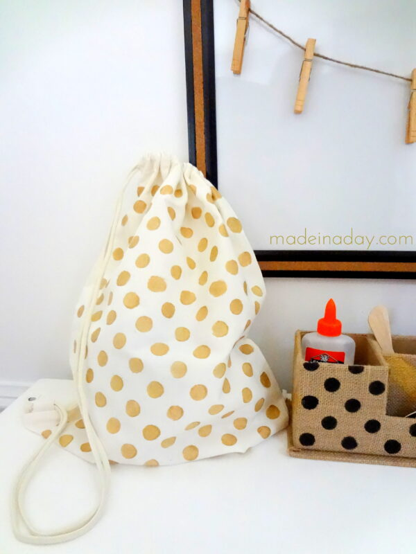 Gold Polka Dot Backpack