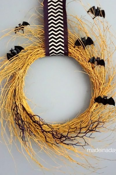Golden Halloween Wreath