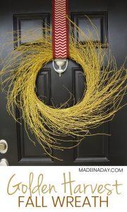 Chevron Golden Harvest Wreath 1