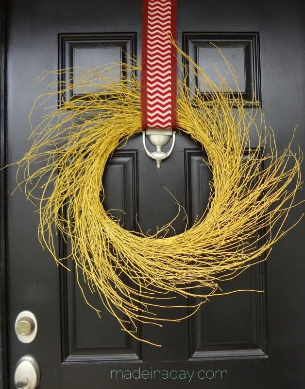 Golden Yellow Harvest Wreath