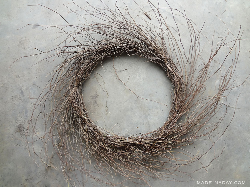 natural grapevine wispy wreath