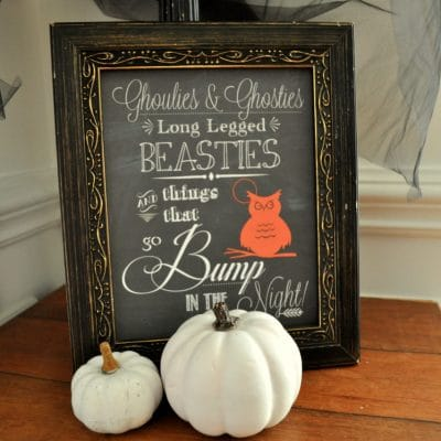 Halloween Chalk Art Printable
