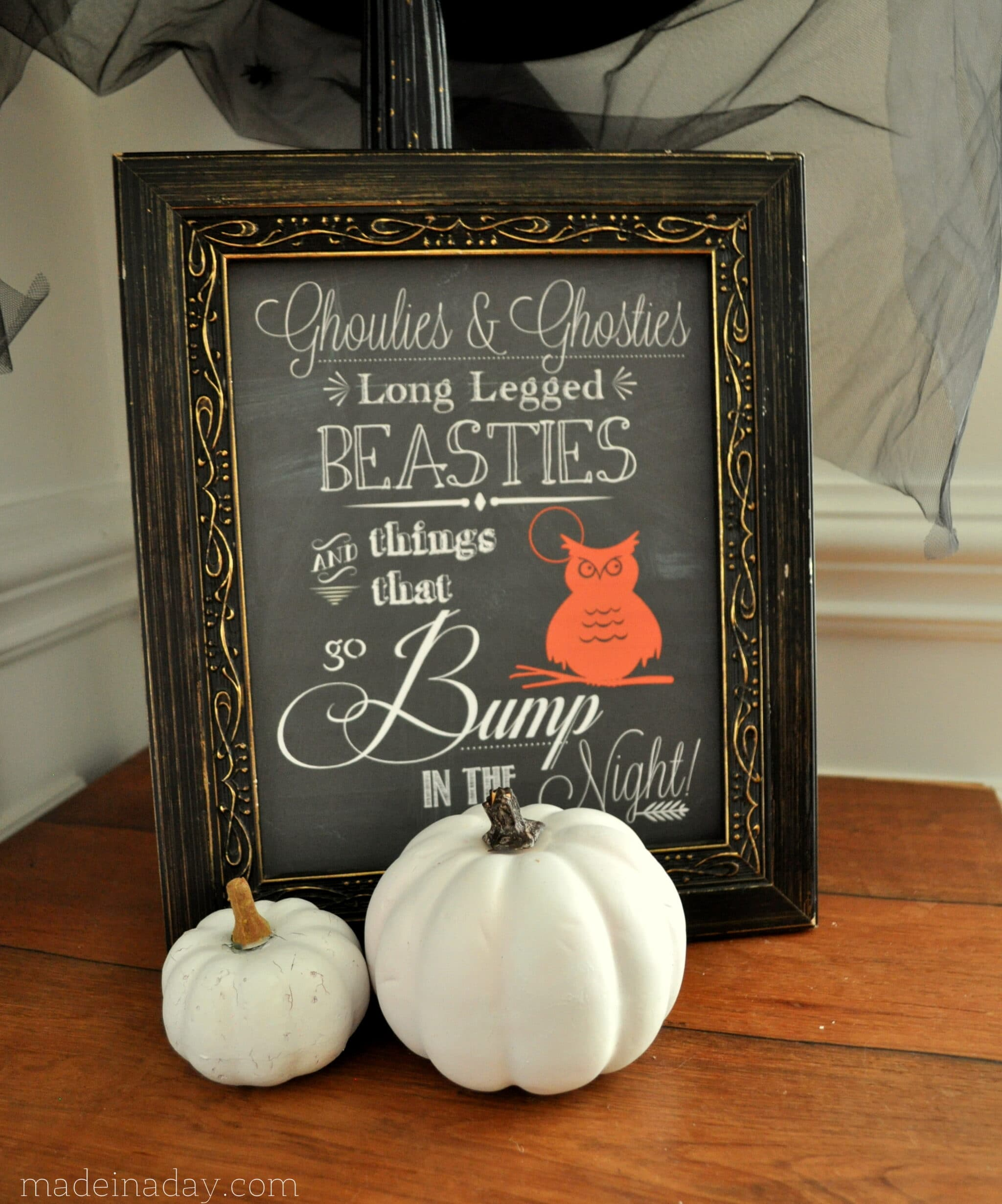 Halloween Chalk Art Free Printable