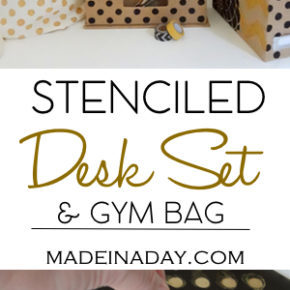 Stenciled Desk Set and Gym Bag 1